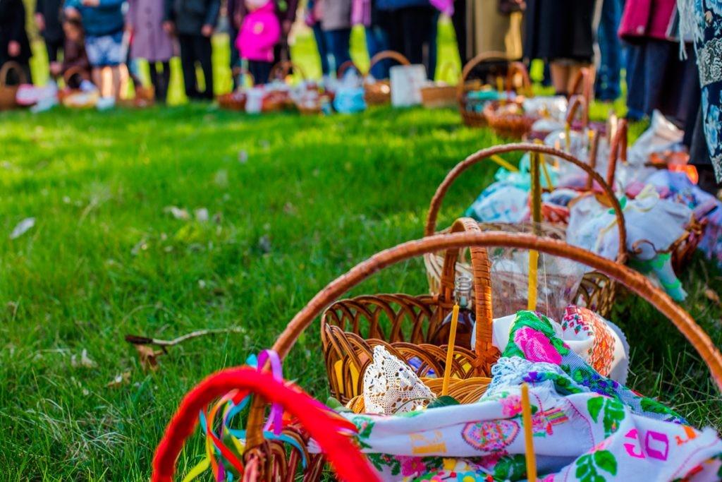 Пасха, Воскресение Христово, корзина, паска, освящение, весна