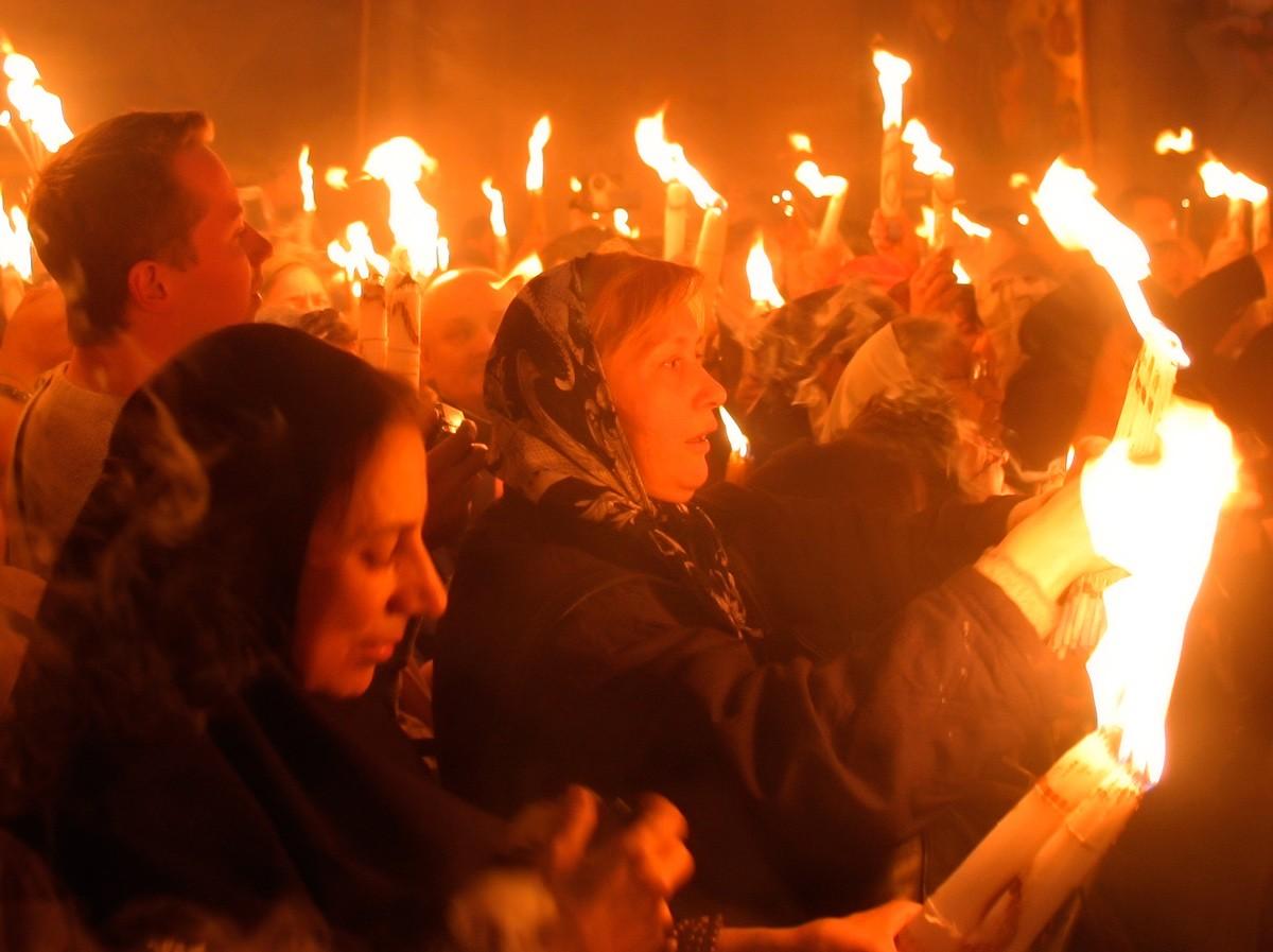 благодатный огонь, Иерусалим, схождение огня, радость, праздник, пасха