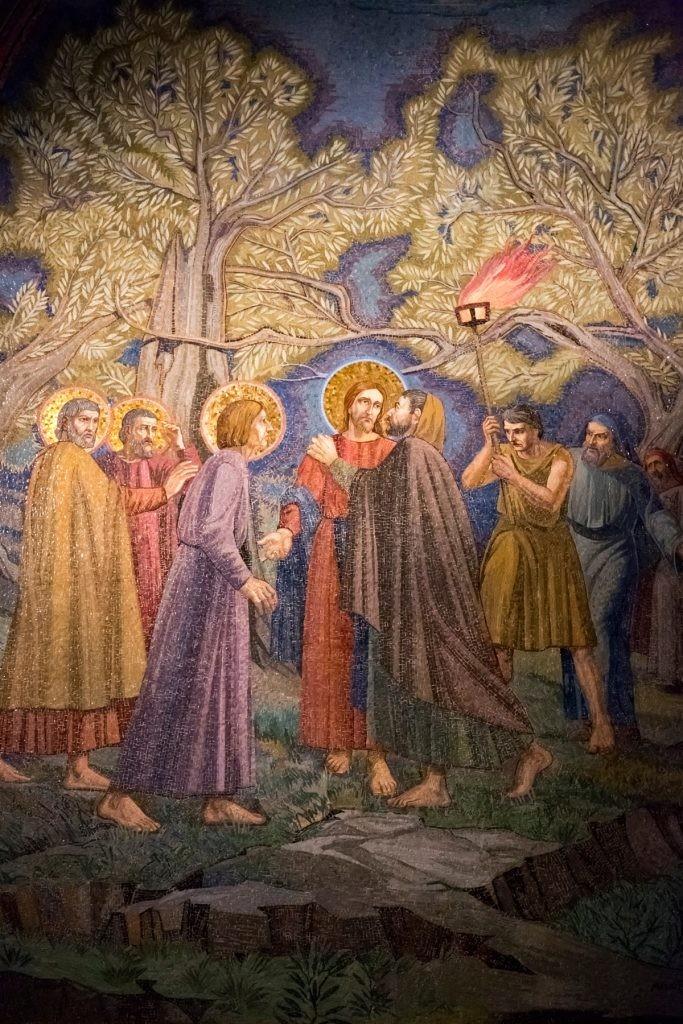 Иуда, поцелуй, Гефсимания, Христос