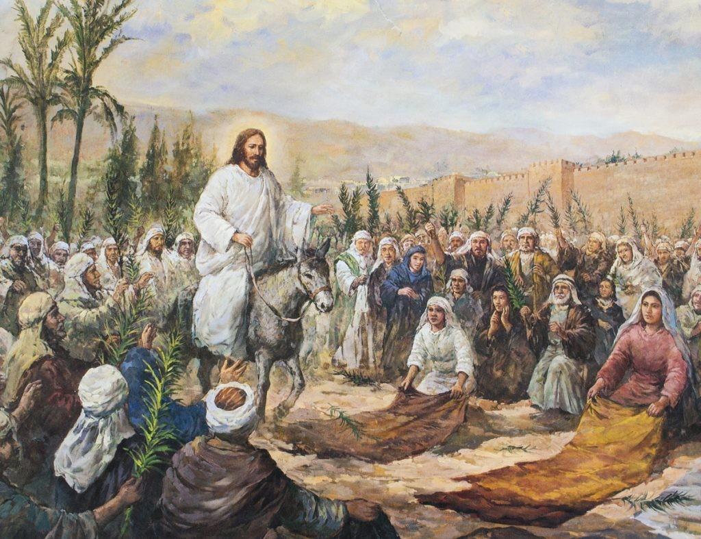 Иисус Христос, Бог, въезд в Иерусалим, вербное воскресение, осел