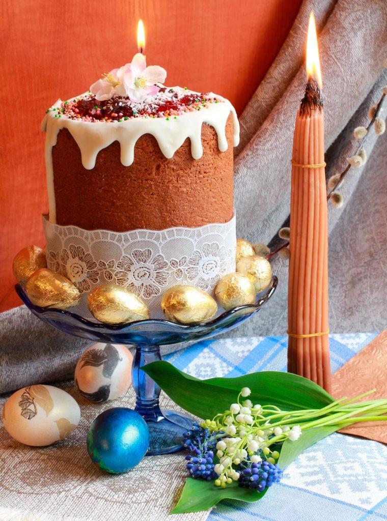 паска, кулич, яйцо, иерусалимские свечи