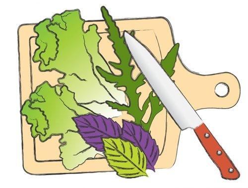 салат, рецепт, рисунок, шаг
