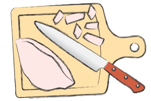 салат, курица, витамины, рисунок, шаговый рецепт, совет
