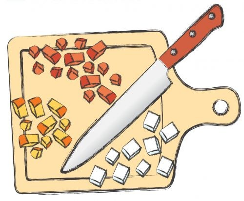 салат, рисунок, шаг, сыр