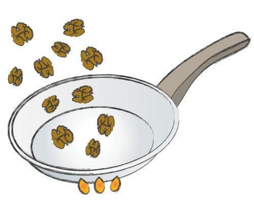 рецепт, орехи, салат, рисунок