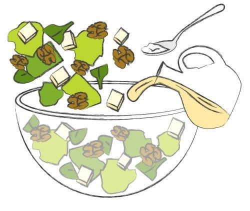 салат, рисунок, рецепт