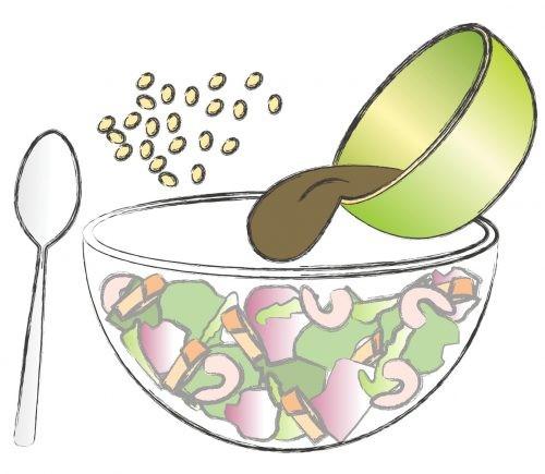 салат, рисунок, рецепт, миска, витамины