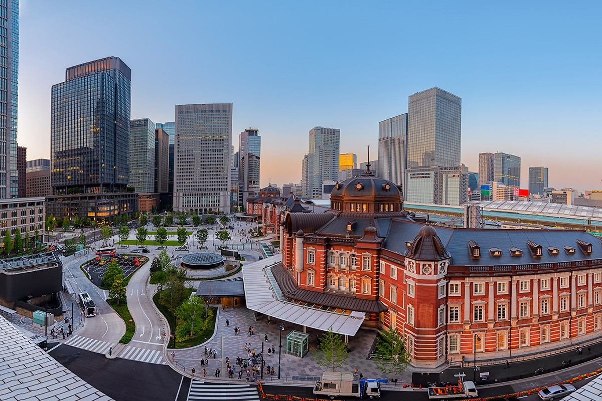 Станция Токио - главный терминал в Токио