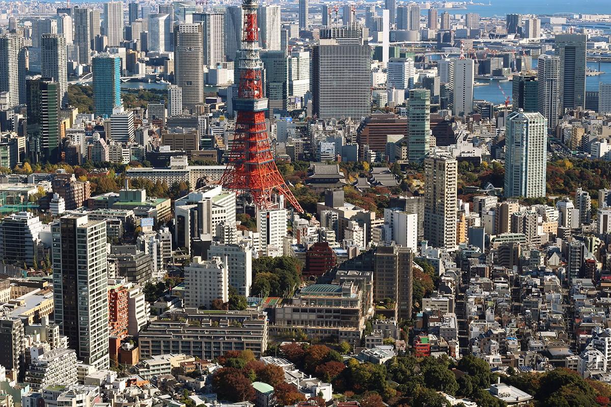 город Токио. Башня Токио. Япония