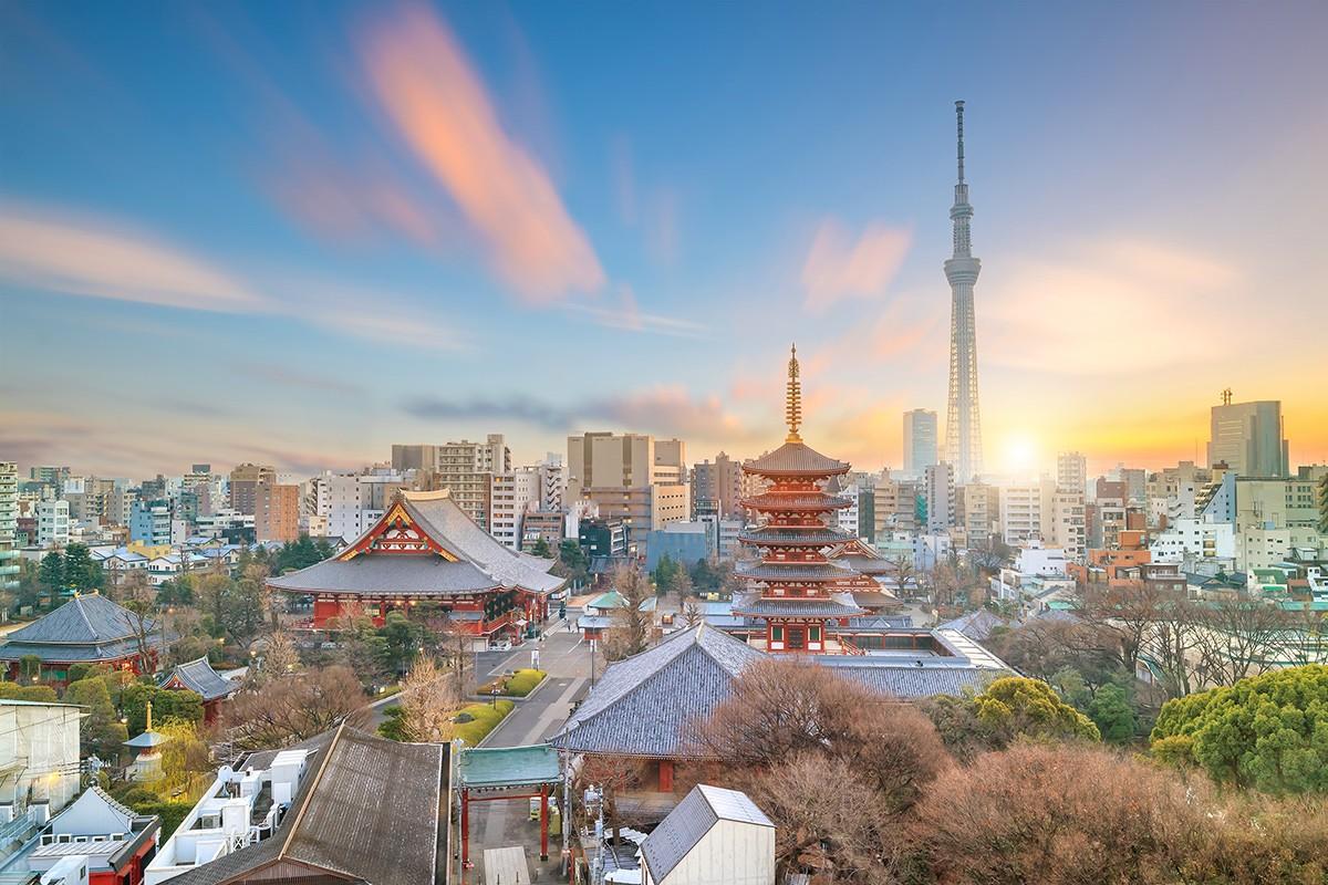 город Токио. Телвизионная башня. Япония