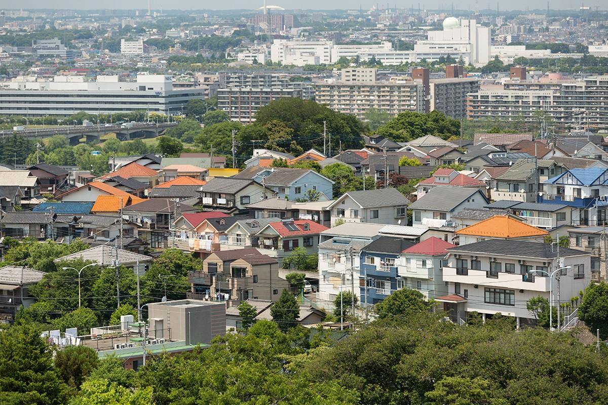 Городской пейзаж жилого района Токио