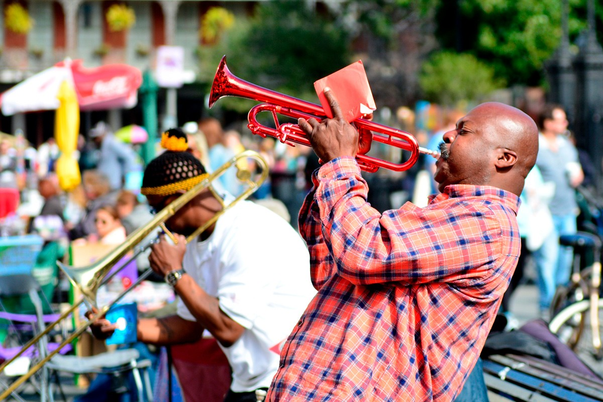 Марди Гра, Новый Орлеан, труба, джаз
