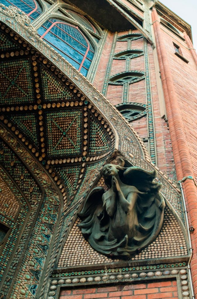 Храм святого Иоанна Богослова, Париж, Франция, церковь, скульптура, стена