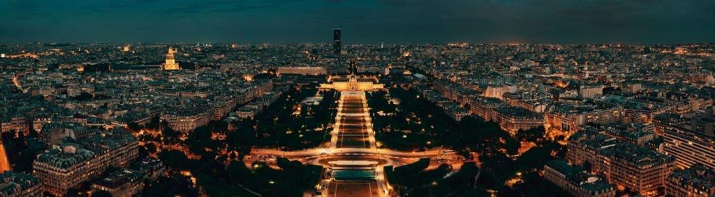 Париж, ночь, город