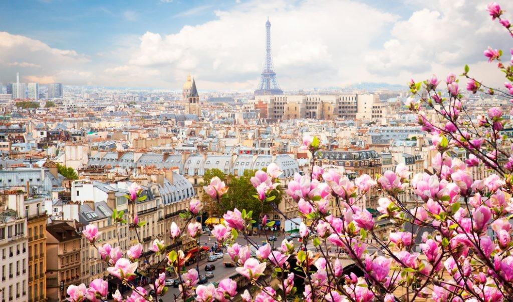 весна, Париж, путешествие, романтика
