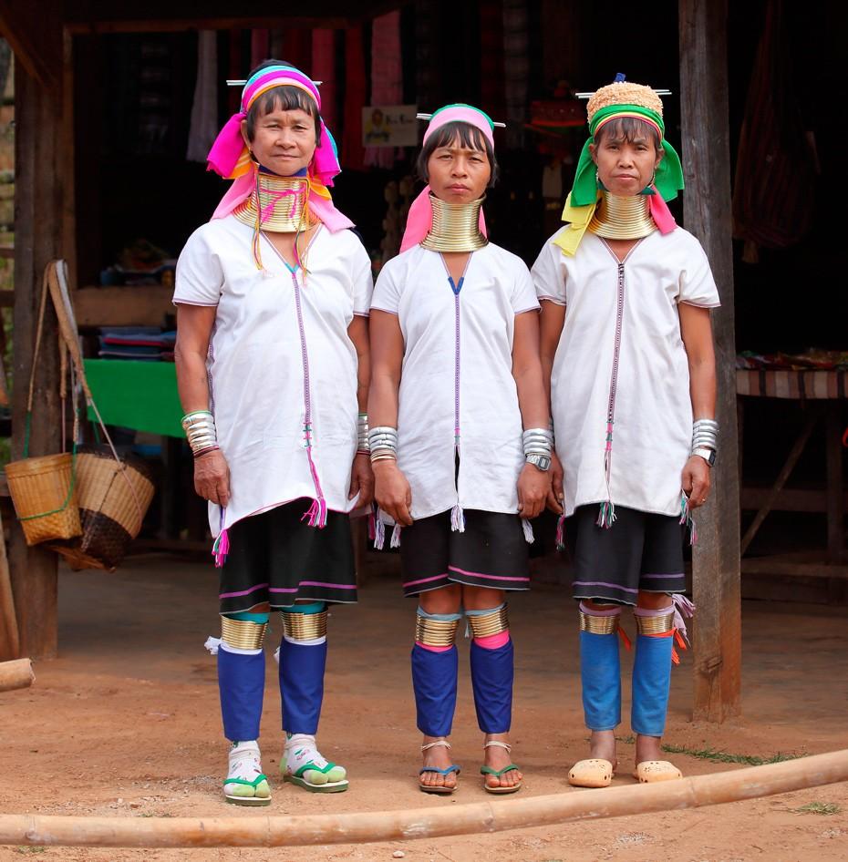 Женщины Мьянмы , падаунг , шея, племя, красота