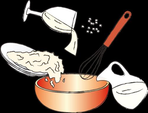 рецепт, рисунок, пошаговый рецепт, оладьи, блины, голландия