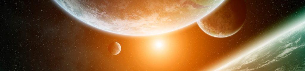 космос, вид, планеты