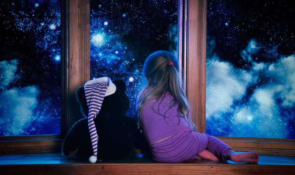 звезды, окно