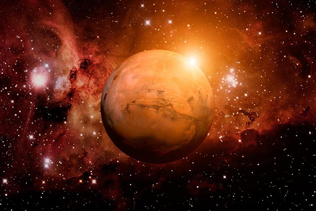 Марс, планета, космос, звезды