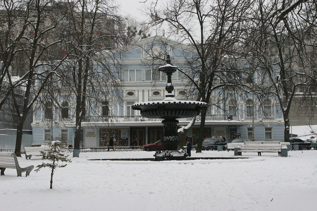 Театр Франка, Киев, фонтан, вход
