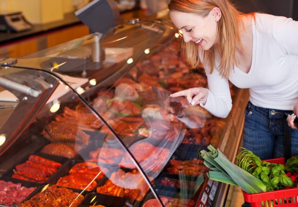 мясо, выбор, магазин