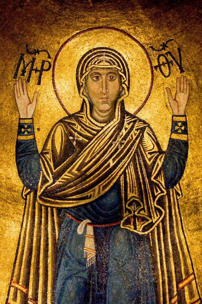 Оранта, Нерушимая Стена, Богородица, София Киевская, Киев, Софиевский собор, мозайка