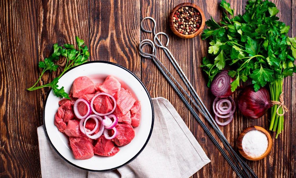 мясо, маринад, специи, шашлык