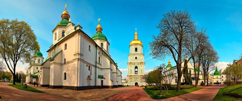 Киев, София Киевская, Софиевский собор, колокольня, панорама