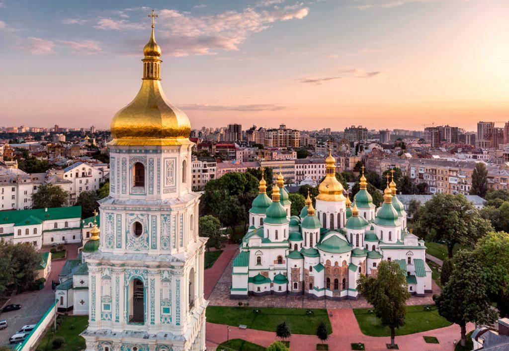 София Киевская, Киев, Украина, история, ЮНЕСКО, Оранта, вид, панорама