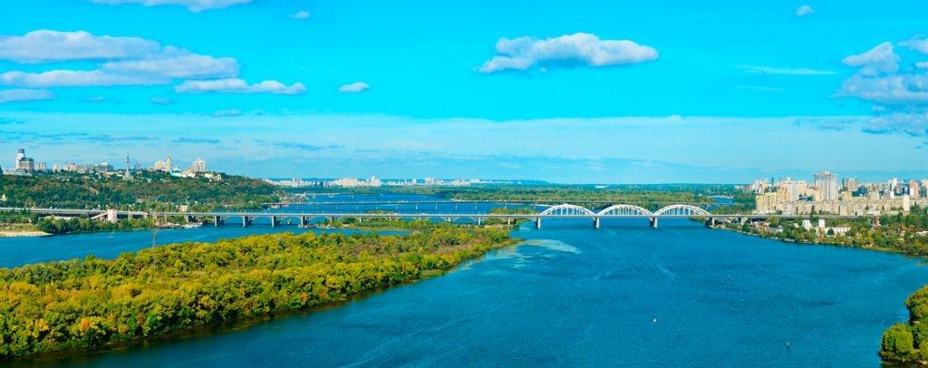 Киев, Днепр, мост