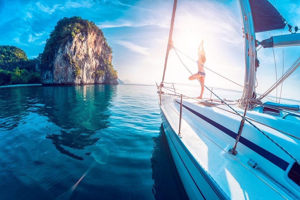 Тайланд, девушка, яхта