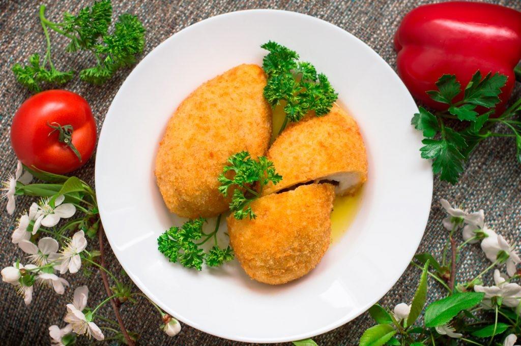 Котлета по-киевски, мясо, еда