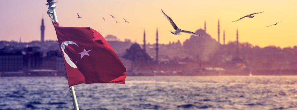 Турция, флаг, море, чайки, отдых, факты