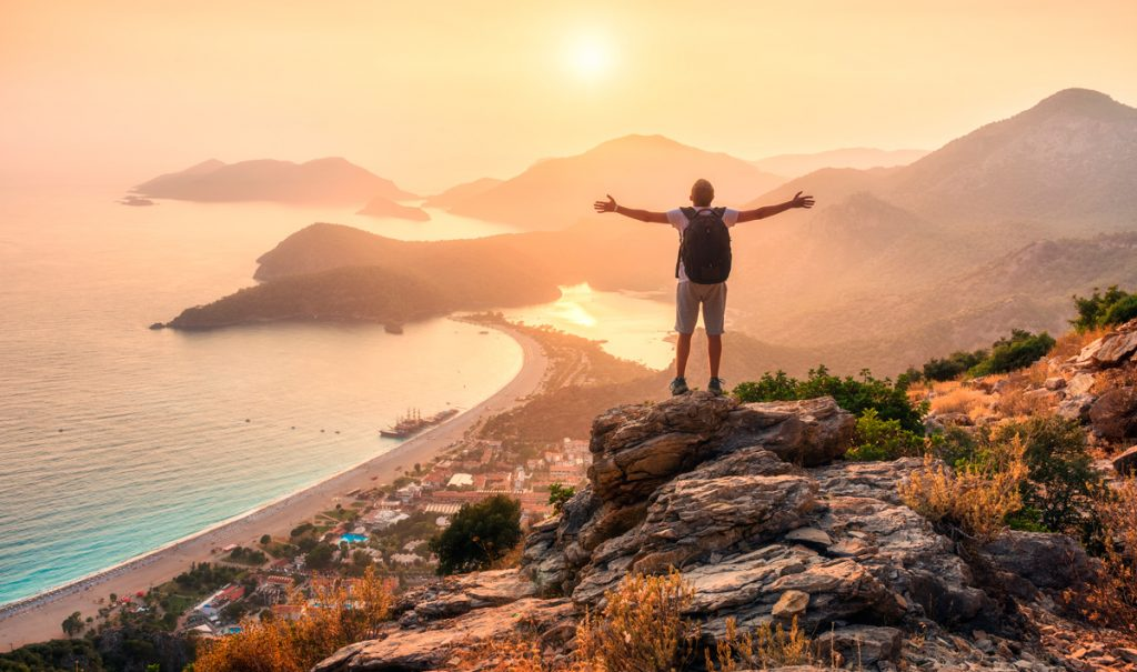 Турция, Анталия, море, горы, отдых, природа, турист ,человек