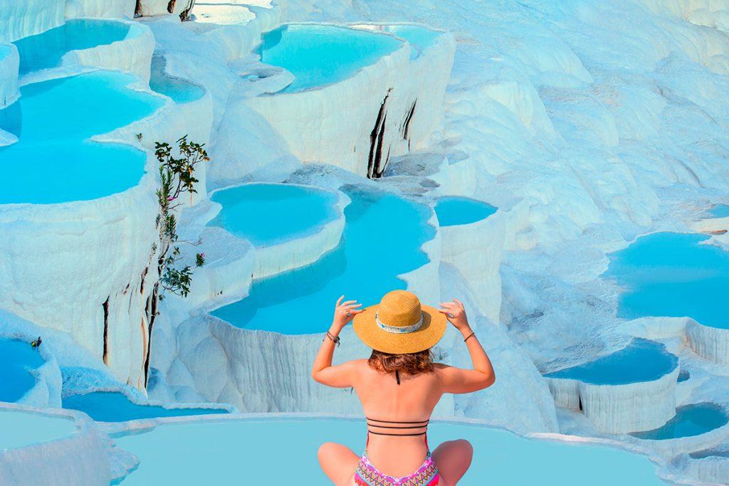 термальный курорт, Турция, соль, здоровье, женщина