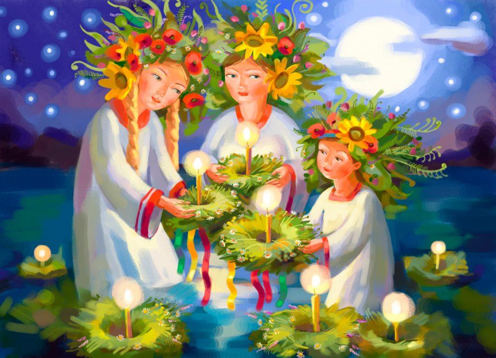 Купала, праздник, венки, девушки, традиции, гадания