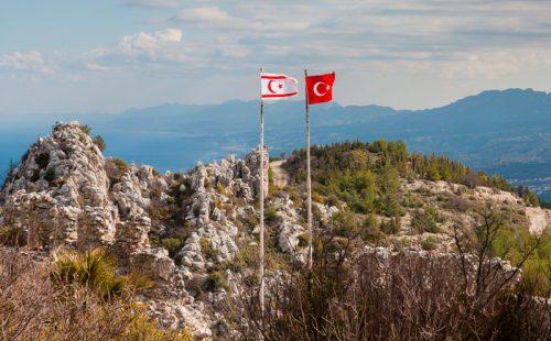 Северный Кипр, флаги, горы, природа