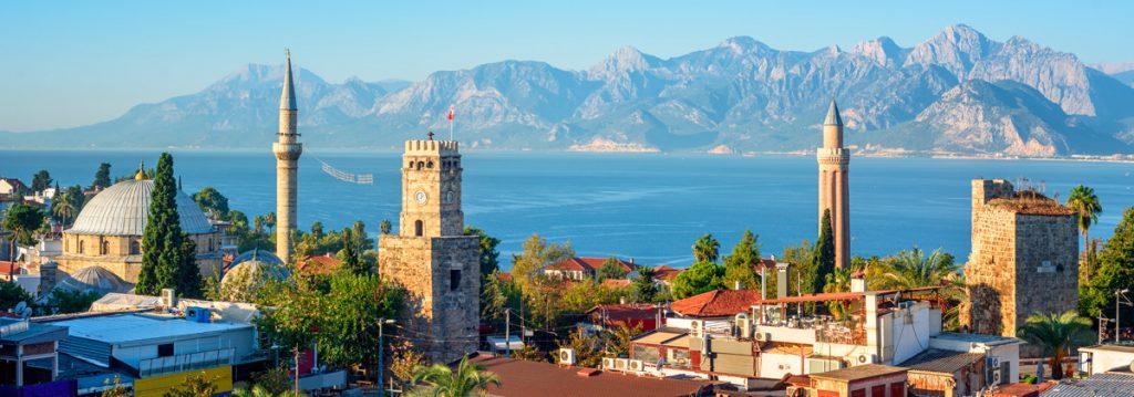 Турция, Анталия, море, природа, вид, панорамма, архитектура, отдых