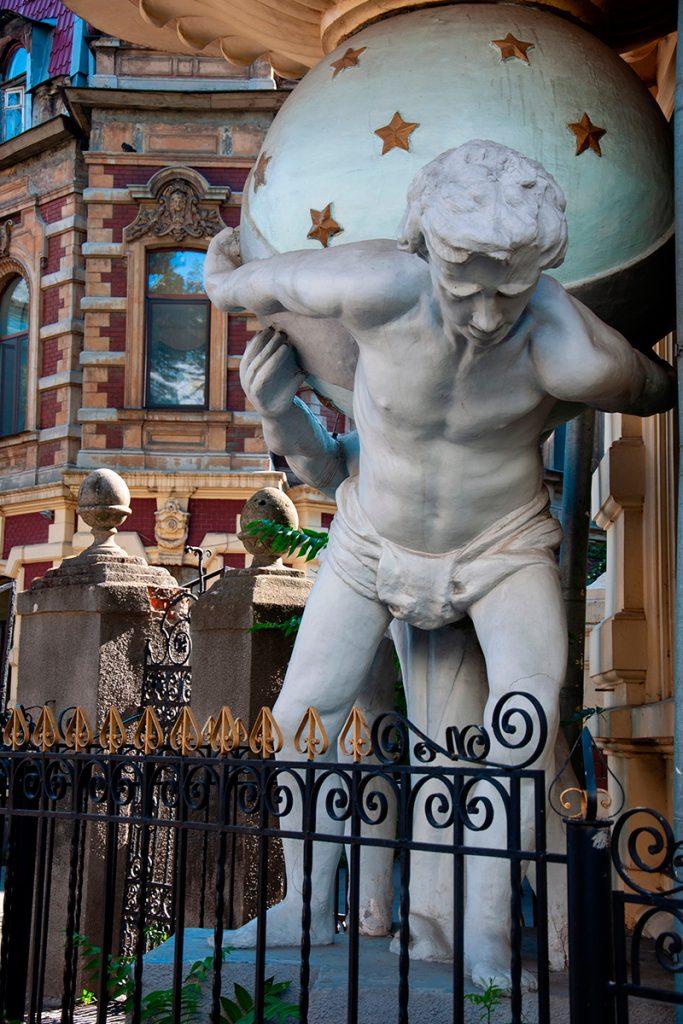 Дом с атлантами, Одесса, скульптура, атланты, прогулка