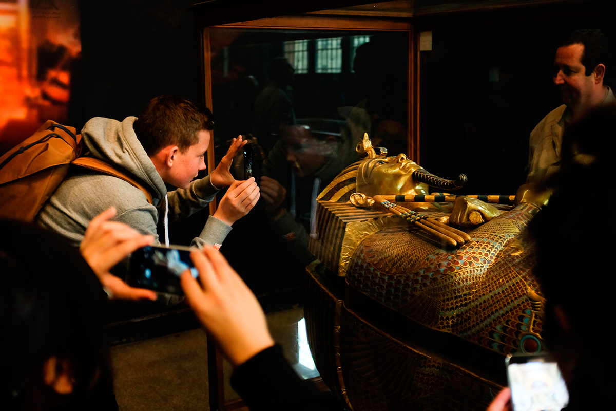 фараон Тутанхамон, музей, Каир, Египет