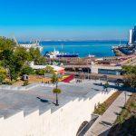 Потёмкинская лестница , Одесса, Приморский бульвар, причал, море