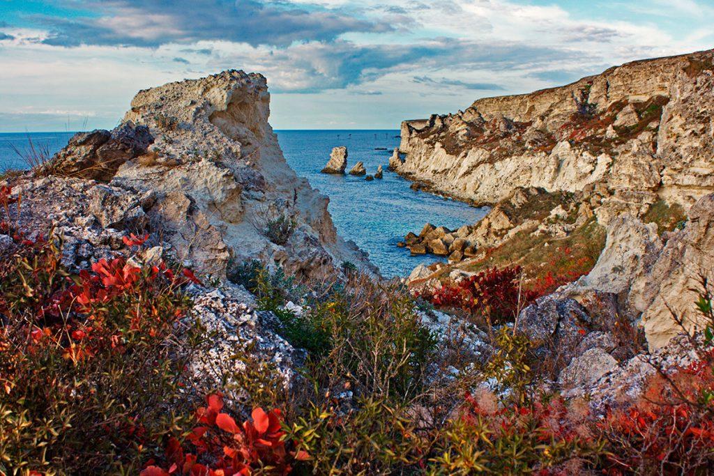 осень, Крым, море, небо, скалы