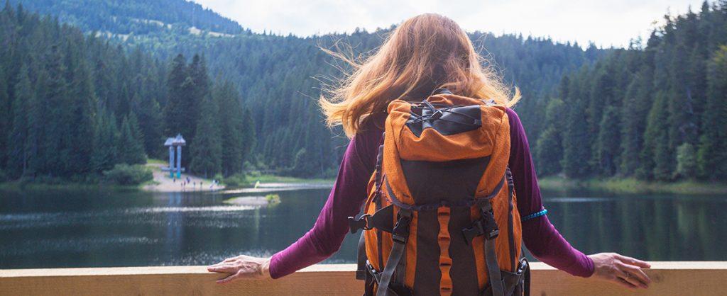 Синевир, озеро, Украина, девушка