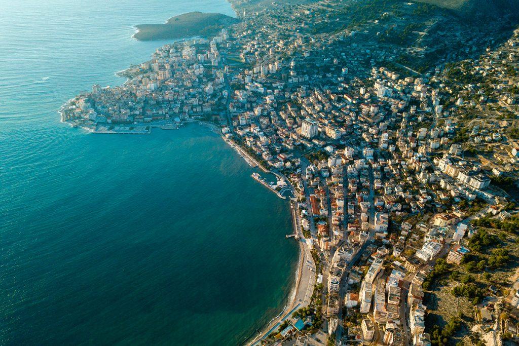 Саранда , Албания, вид, море