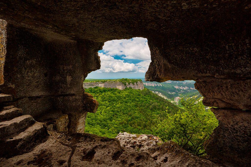 Крым, Украина, Мангуп, скалы, гора, природа, панорама, вид, лето, путешествие