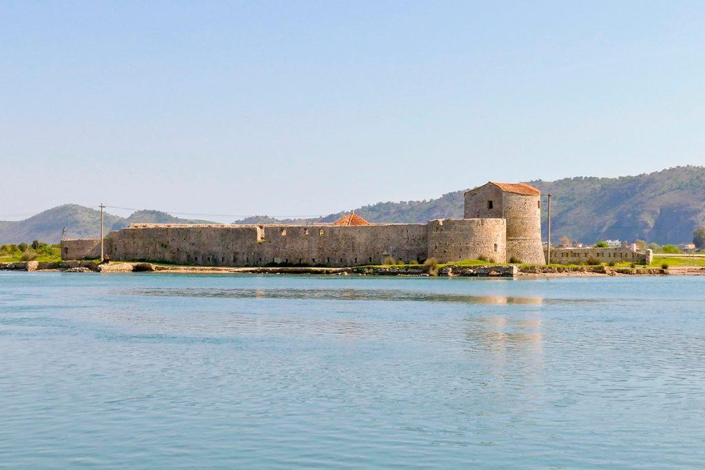 крепость, руины, Саранда , Албания, камень, общий вид