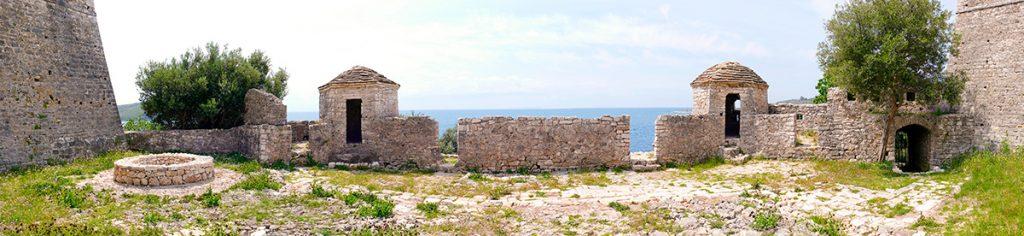 Ali Pasha Castle Albania , Албания, крепость Али Паш Тепелена, вид, камни, башни, стены, море, история, путешествие, панорама, красота