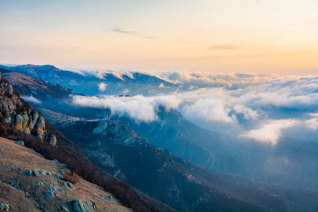 Большой каньон Крыма, Украина, Крым, облака, небо, природа