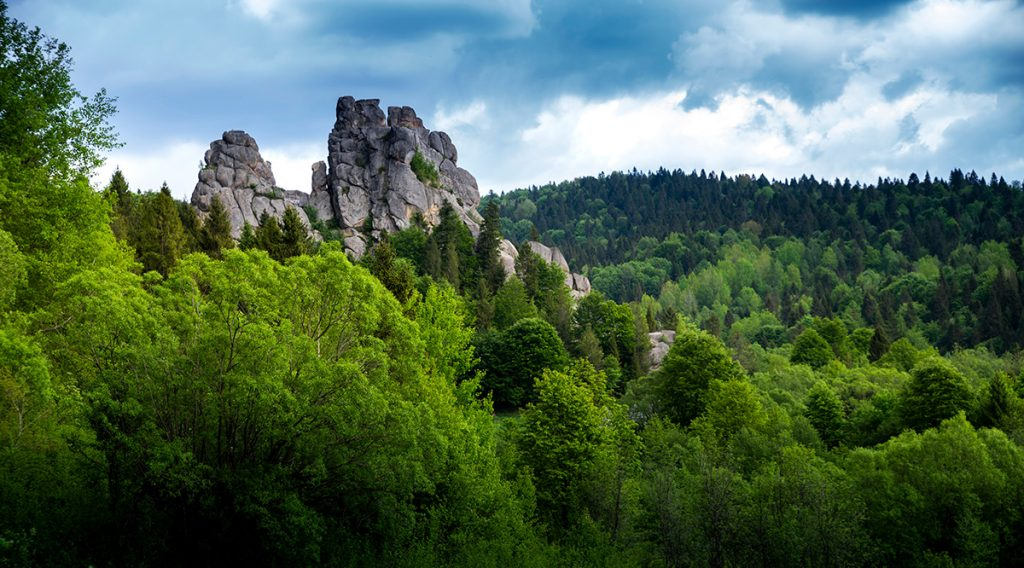 Тустань, заповедник, Украина, горы, Карпаты